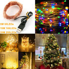 5/10/20M LED String Lights USB Micro Rice Copper Wire Fairy Lights Decor Party
