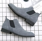 Men's Pumps Chukka Formal High Top Chelsea Ankle Boots Retro Flat Casual Shoes
