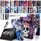 'For Amazon Kindle Fire 7 Hd 8 /10 - Tablet Folio Leather Stand Case Cover+pen