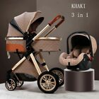 Luxury Baby Stroller 3 in 1 High Landscape Pram foldable pushchair Baby Cradel