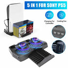 Vertical Stand+Cooling Fan+Charging Station+USB Hub for Sony PS5 UHD/DE Console