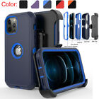For iPhone 12/12 Pro Max/11 Pro Max/XR Shockproof Case +Stand Belt Clip Holster