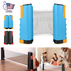 Portable Table Tennis Ping Pong Net Post Clamp Stand Holder Mesh Rack Replace US