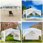 10'X10'/30' Canopy Outdoor Garden Gazebo Wedding Party Tent Pavilion With Wall