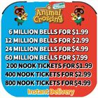 Animal Crossing:New Horizons Bells, Nook Miles Tickets, Fish Baits Fast Delivery
