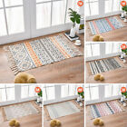 Bohemian Tassel Floor Carpet Cotton Handmade Woven Area Rug Mat Floor Carpet