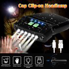 Rechargeable 6LED Clip-on Head Lamp Headlight Hat Cap Sensor Torch Light Camping