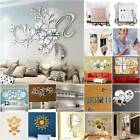 Acrylic 3d Mirror Effect Tile Wall Stickers Home Decor Stick On Decal Arts Decor