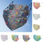 Fashion Crystal Glitter Rhinestone Sparkle-Bling Reusable Face Mask Cover Useful