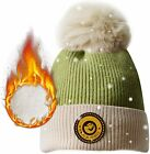 Greneric Pom Pom Beanie Winter Hat for Women Warm Fleece Lined Knit Ski Skull Ca
