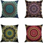 Jartinle Set of 4 Retro Floral Mandala Compass Medallion Bohemian Boho Style Sum