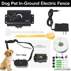 Underground Electric Dog Fence System Waterproof Shock Collars For Pet US -New