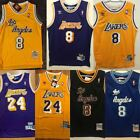 #24 #8 Kobe Bryant Los Angeles Lakers Men's Stitched Jersey Purple/Gold S-2XL