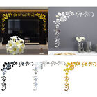 3d Acrylic Mirror Wall Sticker Flower Pattern Mural Decal Wall Home Room Decor