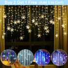 16FT Curtain Icicle Lights Wedding Party LED Fairy Christmas Indoor Outdoor US