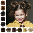 Curly Messy Hair Bun Piece Updo Scrunchie Fake Natural Bobble Hair Extensions US