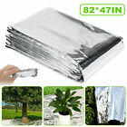 82*47in Reflective Film Garden Greenhouse Covering High Silver Foil Sheets Solid