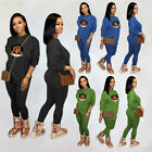 Fashion Clubwear Women Print Crew Neck Long Sleeve Casual Sport Cocktail Outfits