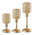 Crystal Metal Candle Holder Stand Party Home Offices Decoration Candlestick