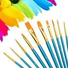 10Pcs Art Paint Brush Artist Brushes Set Pointed For Water Color Painting V8B1