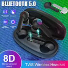 Wireless Bluetooth 5.0 TWS Headphones Touch Headsets Earphone Mic Stereo Earbuds
