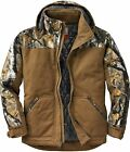 Legendary Whitetails Men's Canvas Cross Trail Big Game Camo Workwear Hooded Jack