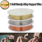 Non Tarnish Copper Brass Artistic Beading Wire For Jewellery Craft Diy 0.2 -1mm