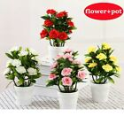Uk Artificial Potted Flowers Plants In Pot Outdoor Home Office Garden Decor 2021