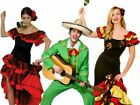 Adults Mens Ladies Latin Rumba Costume Spanish Mexican Dancer Fancy Dress Outfit
