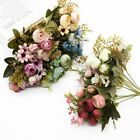 Artificial Fake Flowers Decor Silk Peony Bunch Bouquet Home Wedding Party 🎀