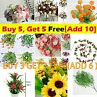 Artifical Fake Flowers Rose Vine Hanging Garland Plant Wedding Home Decorations