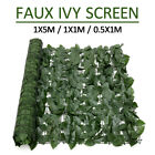 Artificial Faux Ivy Leaf Privacy Fence Screen Garden Panels Outdoor Home Hedge