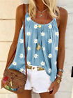 Womens Swing Vest Sleeveless Cami Top Ladies Strappy Flared Shirt plus size Tops