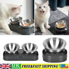 Stainless Steel Dogs Cats Feeding Smooth Adjustable Tilted Pet Bowl Raised Stand