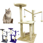 Cat Tree Scratching Posts Natural Sisal Hammock Bed Kitty Activity Center 90Hcm