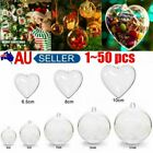 1~50x Clear Plastic Balls Christmas Baubles Fillable Diy For Party Tree Ornamew@
