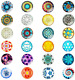 24 Pieces Beautiful Glass Fridge Magnets, Pretty Refrigerator Magnets for Office