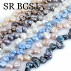 9-11mm Freeform Baroque Freshwater Pearl Jewelry Making Spacer Beads Strand 15""