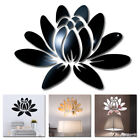 3d Mirror Flower Lotus Art Acrylic Mural Decal Removable Wall Sticker Home Decor