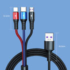 3 in 1 Fast Charging USB Power Adapter Cable Multi Charger Cord For Cell Phone
