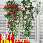 Artificial Fake Hanging Rose Flowers Vine Plant Home Garden Decor In/outdoor N