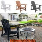 Adirondack Chairs Chair Wood Outdoor Patio Furniture Lounge Poly Seat Garden New