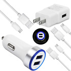 Fast Wall Plug Car Charger USB C Cable Cord For LG Stylo 6 5 G8 G7 ThinQ V35 V30