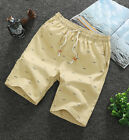 Mens Casual Sport Shorts Chino Summer Beach Joggers daily Pants Cotton Slim Fit