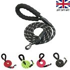 Large Dog Leash Rope Strong Braided Pet Leads Nylon Walking Harness 2FT 5FT 6FT