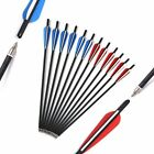 """12Pcs Carbon Crossbow Bolts 20 Inch Hunting Archery Arrows with 4"""" Vanes /Quiver"""