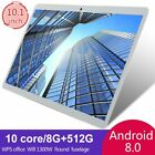 """10.1"""" Wifi Tablet Hd 8/10+512gb Tablet Android 8.0 Hd 10 Core Gps Dual Camera Us"""