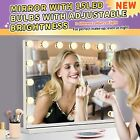 Hollywood Vanity Makeup Mirror with 15 Dimmable LED Bulbs Table Lights White