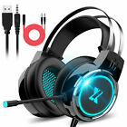 3.5mm LED Gaming Headset Stereo Surround Sound Headphone for PS4/Xbox One/Laptop