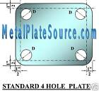 STEEL BASE PLATE 1/2  x 24  x  24  W/4 CUSTOM HOLES
